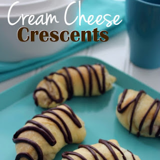 Chocolate Drizzled Cream Cheese Crescents