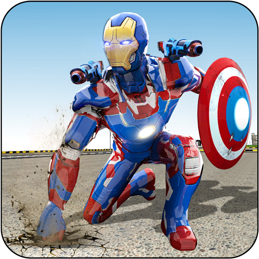 Flying Rescue Hero Captain Robot America