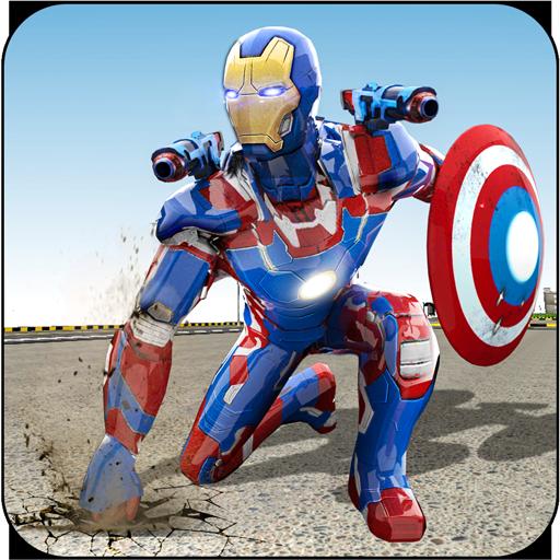Flying Rescue Hero Captain Robot America