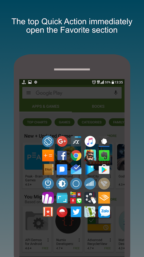 how to change navigation bar in android for one hand