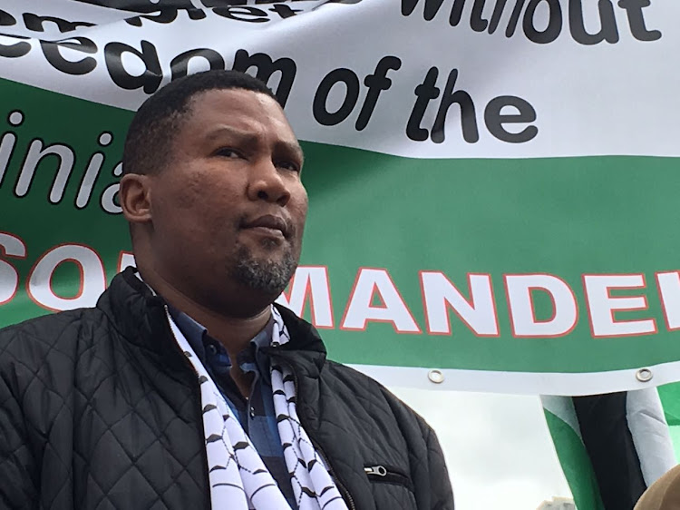 Mandla Mandela flew to Cape Town to participate in the march along with his wife Rabia.