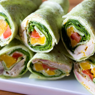 Quick And Easy Chicken And Veggies Wrap.