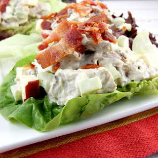 Curry Pork Lettuce Wraps with Bacon.