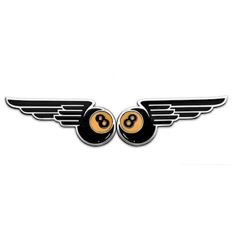 Bevingad 8-ball emblem