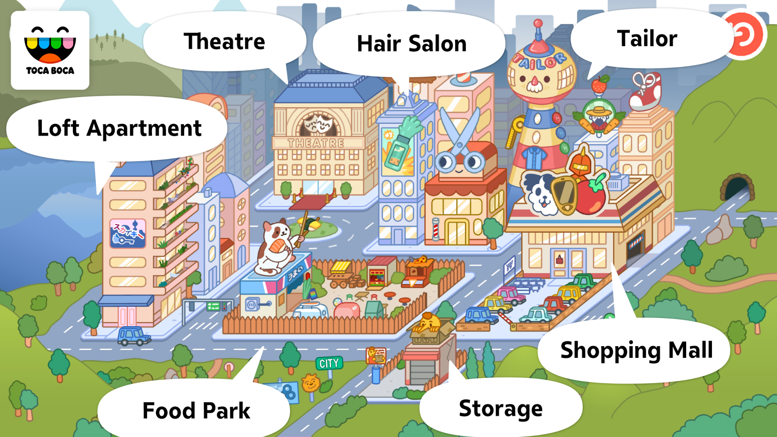 Screenshots of Toca Life: City for iPhone