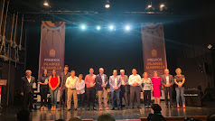 Foto de familia de los galardonados en los V Premios Filabres Alhamilla.