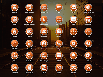 Enyo Orange - Icon Pack screenshot 12