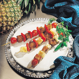 Pork Kabobs with Tequila and Pineapples.