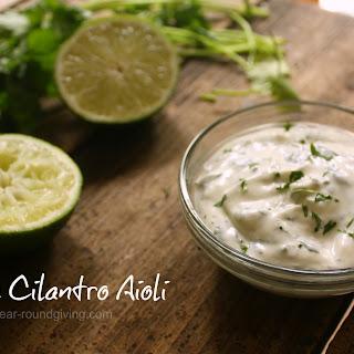 Lime Cilantro Aioli Recipe