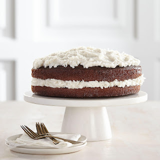 Chocolate Buttermilk Cake with Coconut Frosting