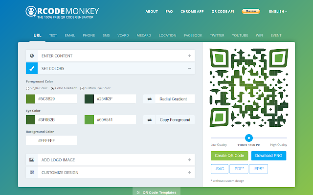 QRCode Monkey - Free QR Code Generator