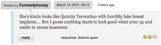 Photo: I don't know who Quintin Terrantino is, but I bet she's hot! (Also, these knockers are 100% real)