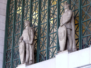 Photo: Louis St. Gaudens (1854-1913) created the thirty-six centurions for the station's main hall.