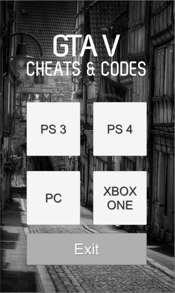 Cheats for GTA 5 : PS3, PS4, PC & Xbox One APK Download
