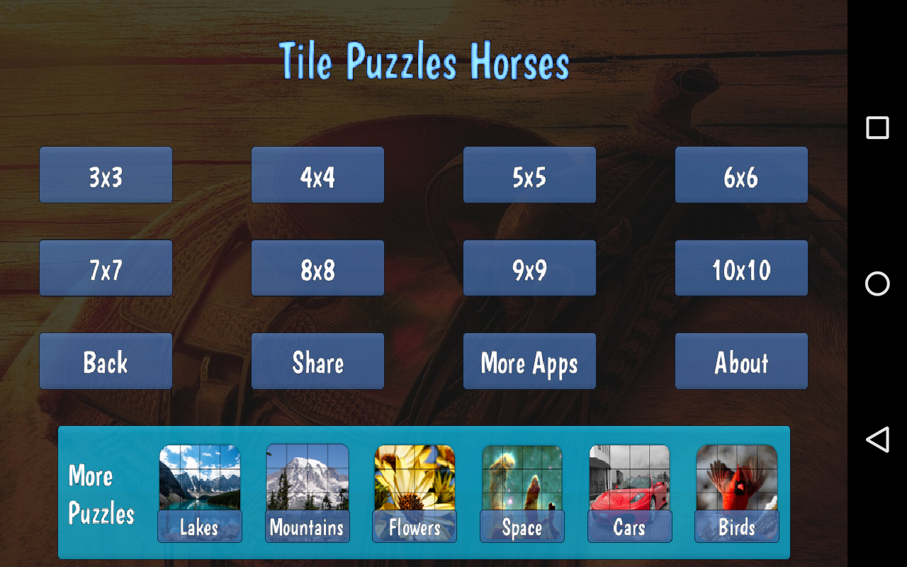 Tile Puzzles · Horses- screenshot