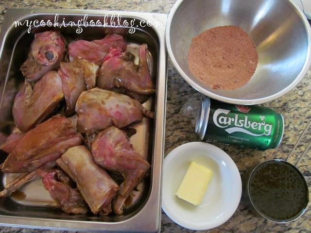 Печен заек с мерудии