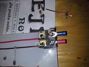 Photo: Output ... I want thicker gauge wire ! But this is what I have now