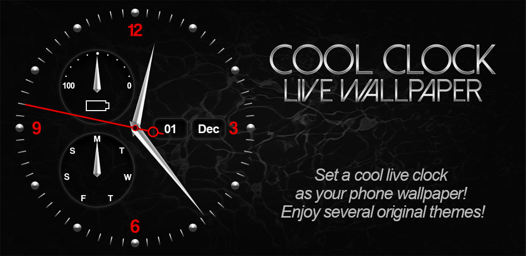 Download Cool Clock Live Wallpaper APK latest version app for