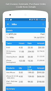 Moon Invoice & Estimate App- screenshot thumbnail