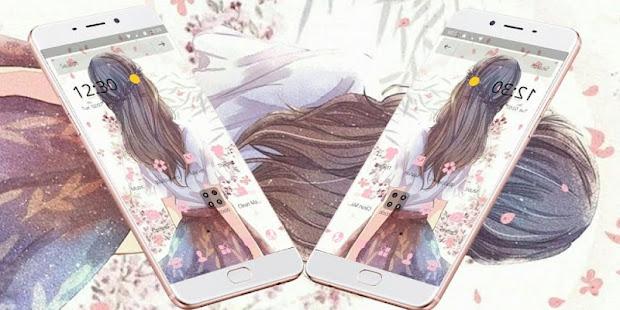 Beauty Bloom Kawaii Girl Theme - náhled