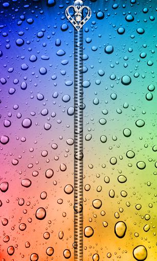 Rain Drops Zipper UnLock