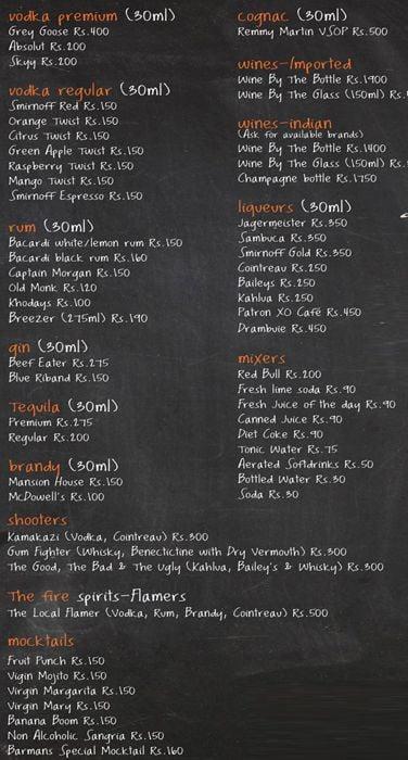 The Local - Burger Bar menu 4