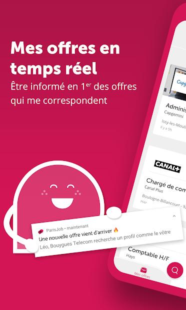 ParisJob Emploi Android App Screenshot