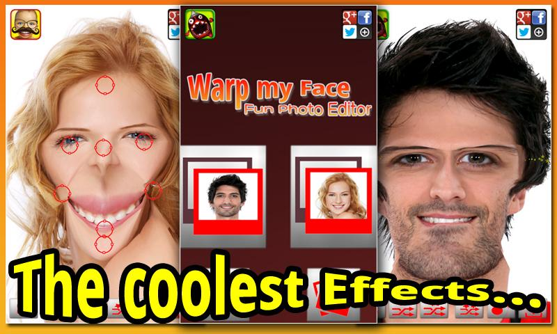 Warp My Face: Fun Photo Editor- screenshot