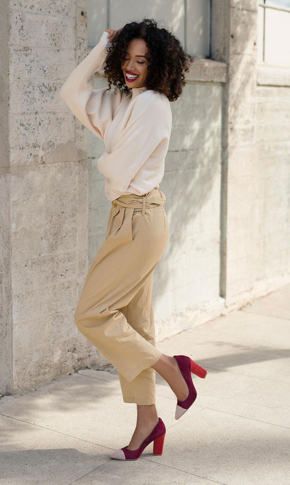 Suede 4 inch pumps - how to walk in heels