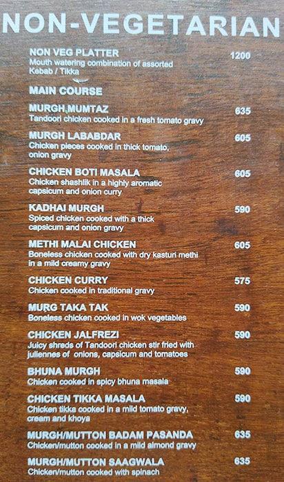 Zaffran menu 4