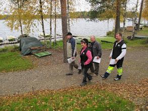 Photo: Safety walk Markku Vänskän johdolla.