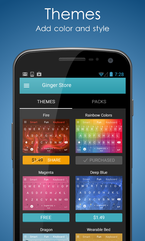 Ginger Keyboard-Emoji Keyboard- screenshot