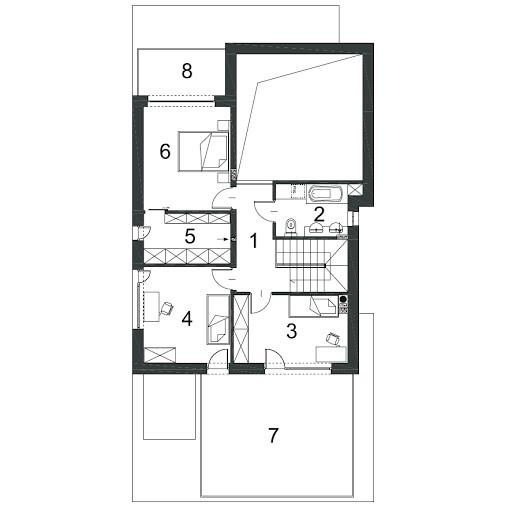 Gustowny D39 - Rzut piętra