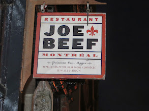 Photo: We ate at Joe Beef's our first night