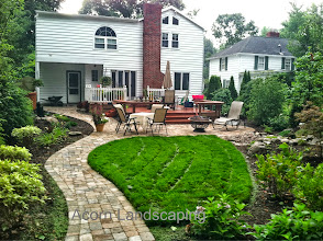 Photo: Landscape Lighting, Water Features and #PaverPatio Design in Penfield byAcorn Ponds & Waterfalls, Certified Aquascape Contractor of Rochester NY since 2004. Check out our website www.acornponds.com and give us a call 585.442.6373.  To learn more about #LandscapeDesign please click here: www.acornponds.com/landscape-design.html  For More info about Geoff and Karen's amazing project please visit www.facebook.com/notes/acorn-landscaping-landscape-designlightingbackyard-water-gardens/landscape-design-installation-walkway-patio-rock-fountain-waterfall-in-penfield-/238744206162709  Acorn Ponds & Waterfalls of Rochester NY, 585-442-6373, is a Certified Aquascape Contractor, Landscape Designer, Outdoor Lighting Designer, Installer, Builder, Contractor and Design Service Company from Rochester, NY. We have professional Installation and Design Services available for the following: Landscape Design Outdoor Room Design Backyard Ponds and Waterfalls Design & Construction Patios and Walkways: Paver, Stone, Brick Low Voltage Landscape Lighting LED Landscape Lighting Swimming Ponds Ecosystem Ponds LED Outdoor Lighting Retaining Walls Fountains Water Features Pondless Waterfalls Pond Maintenance and Design Aquatic and Under Water LED Lights Bubbling Boulders and Urns Natural Stone Patios and Rock Gardens Garden Ponds Outdoor Kitchens Pizza Ovens Fire Pits Fish or Koi Ponds Waterfall Ponds Low Maintenance Plantings Commercial Landscape Design Landscape Design Drainage Issues, Solutions Aquascape Rainwater Collection Systems  We serve Pittsford NY, Penfield NY, Brighton NY, Fairport NY, Webster NY, Greece NY, Victor NY, Henrietta NY, Irondequoit NY, Rush NY  Check out our photo albums on Pinterest here: www.pinterest.com/acornlandscape/  Click here for a free Magazine all about Ponds and Water Features: http://flip.it/gsrNN  Acorn Ponds & Waterfalls  585.442.6373 www.acornponds.com
