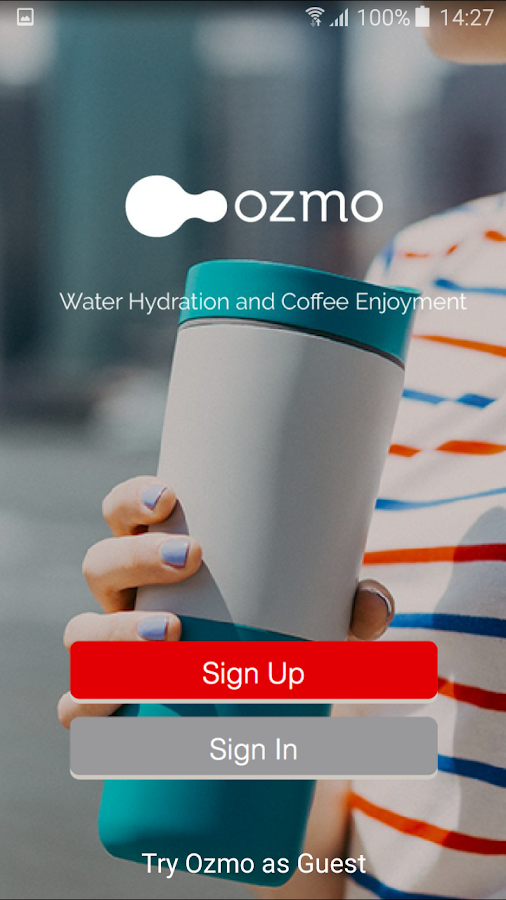 Ozmo Smart Bottle and Water App- screenshot