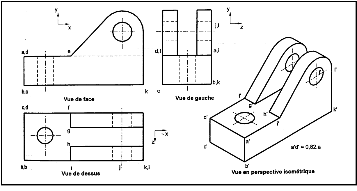 EXERCICE PROJECTION ORTHOGONALE DESSIN TECHNIQUE PDF