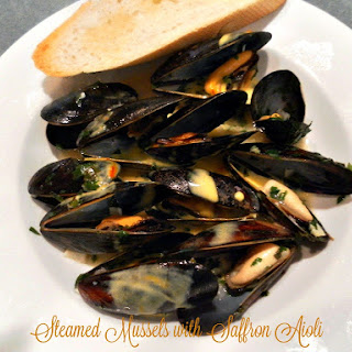 Steamed Mussels with Saffron Aioli