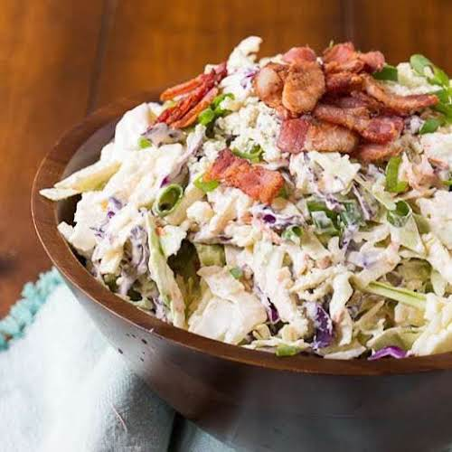 "Click Here for Recipe: Blue Cheese Bacon Coleslaw ""Creamy and crunchy Blue..."