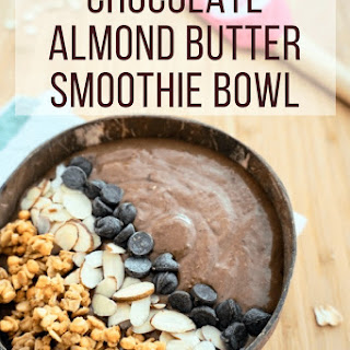 Chocolate Oat Almond Butter Smoothie Bowl Recipe