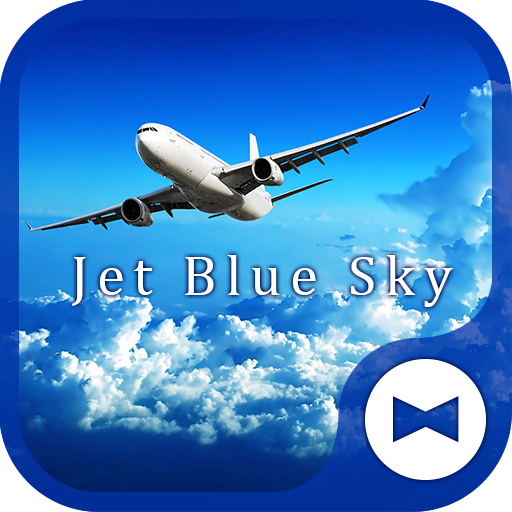 Stylish Wallpaper Jet Blue Sky Theme Icon
