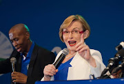 Helen Zille shows support for Mmusi Maimane after poll results.