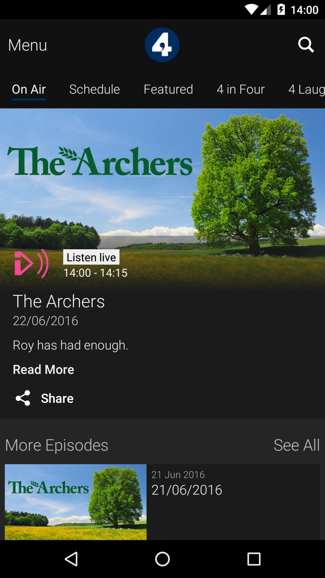 BBC iPlayer Radio screenshot #3