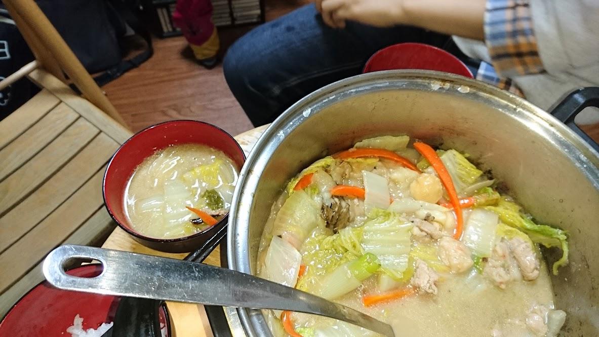この夜に作った 白菜鍋 ぢゃ。