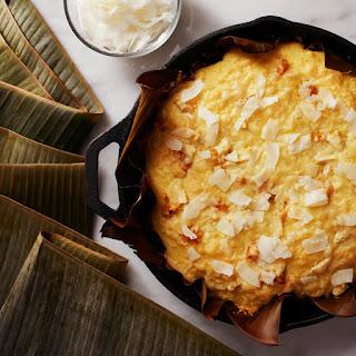 Bibingka (Filipino Coconut-Rice Cake)