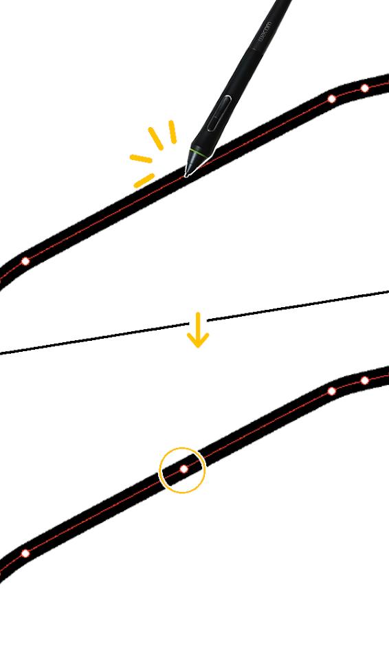 クリスタ:制御点の追加