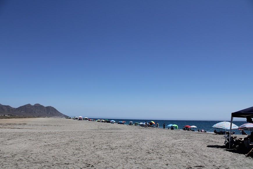 Playa de las Salinas, en las Salinas del Cabo de Gata.