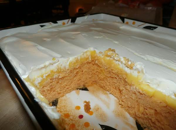 French Vanilla Cream Orange Poke Cake