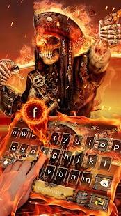 Pirate Skull keyboard theme - náhled