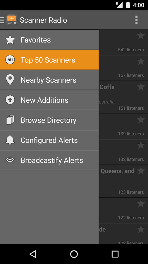 Scanner Radio- screenshot